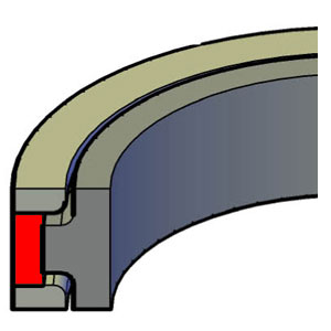 Piston T-Seal - Poly Capped