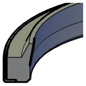 Wiper - Metal Cased - Rubber Covered