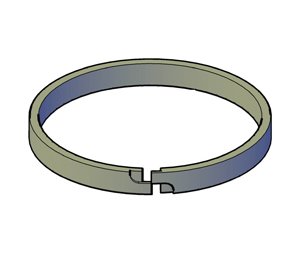 Solid Piston  - Piston Ring - Step Cut