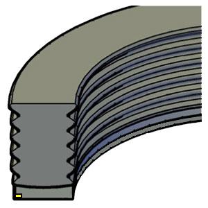 Piston  - 3pc - External Extrusion Ring