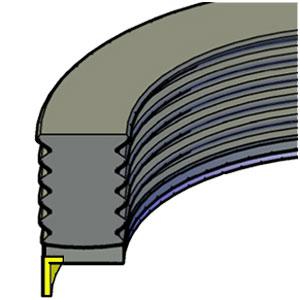 Piston  - 3pc - Clip-On Wear Ring