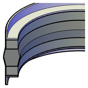 Split Piston  - L-Shaped Wear Ring