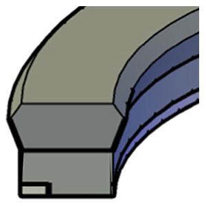 Piston  - External Extrusion Ring