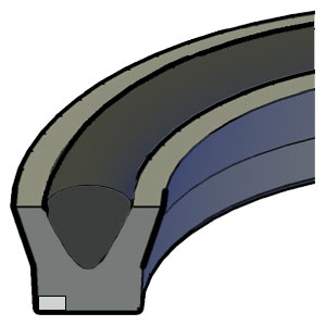 U-Ring - Fabric - Energised - Extrusion Ring