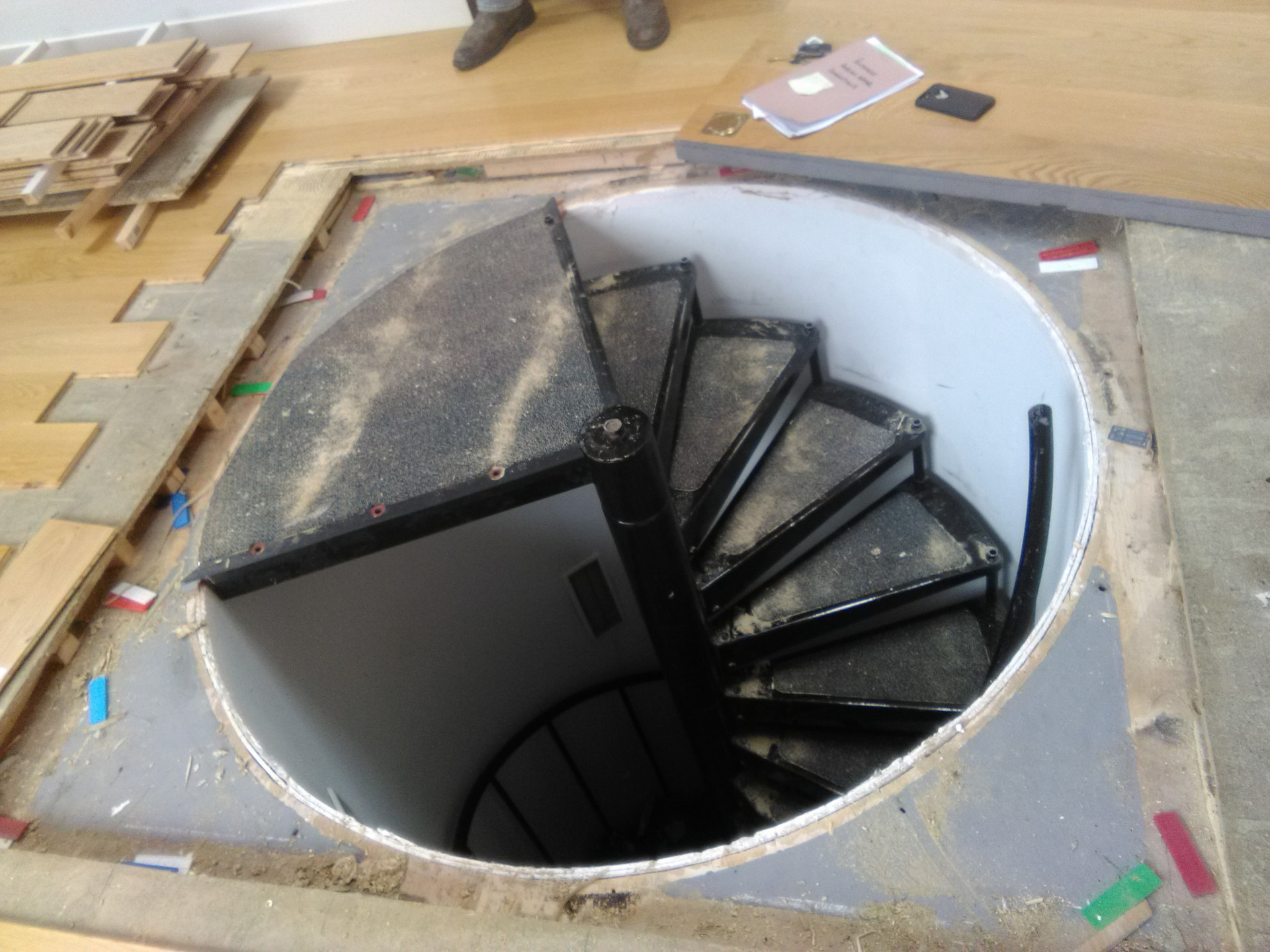 Parts supplied for hidden staircase and trapdoor