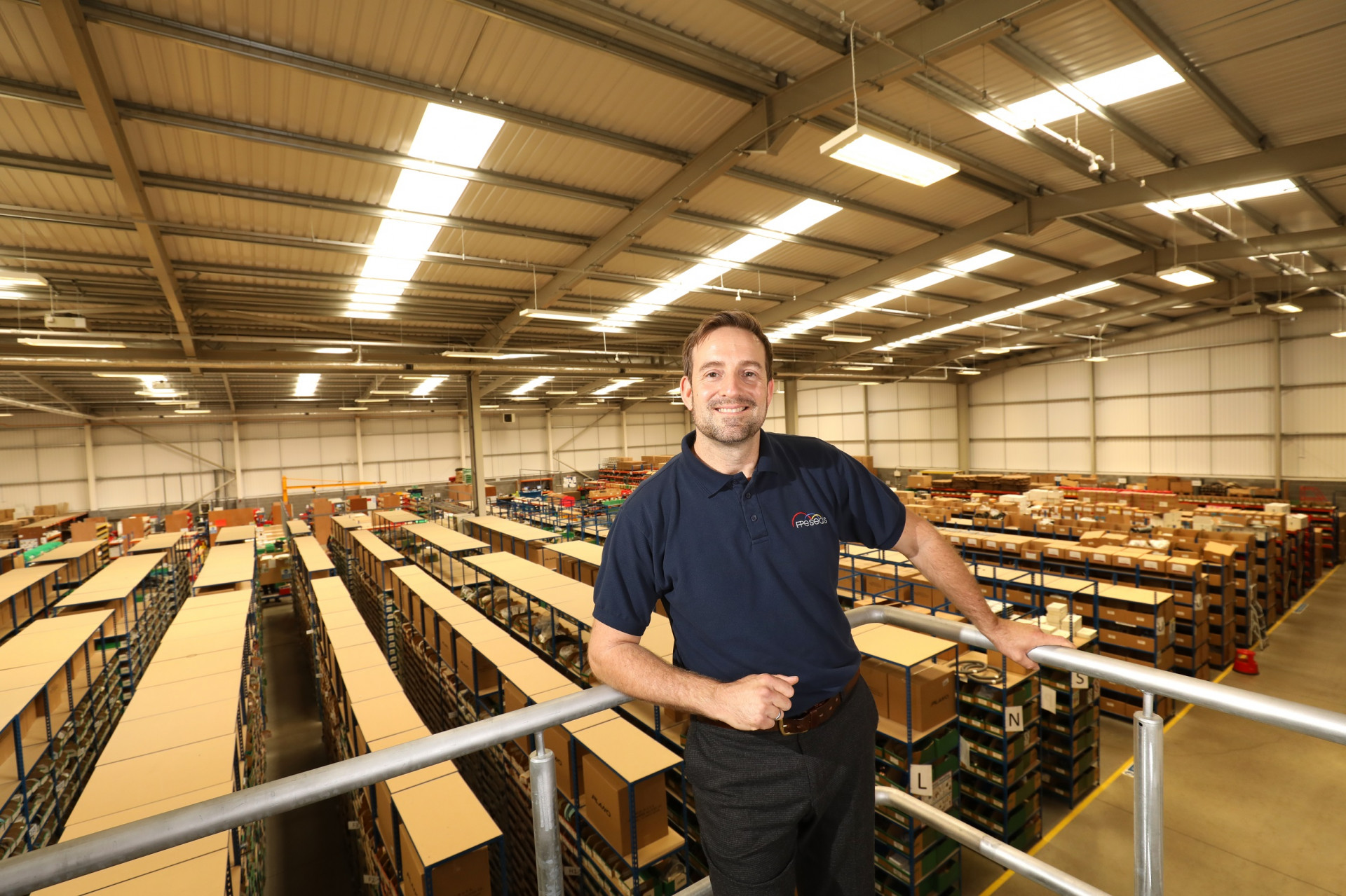 Steve Ellis, Managing Director, FPE Seals taken at their Darlington distribution centre